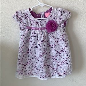 Purple and white lace Baby girl dress